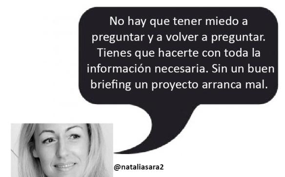 la calidad del briefing determina un proyecto de comunicación Natalia Sara