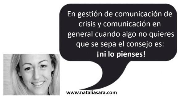 La importancia de nuestros pensamientos en la comunicación y  el desarrollo personal. Natalia Sara explica el poder de las palabras y  aprender  a mejorar nuestras habilidades de comunicación, algo muy importante en comunicación en crisis