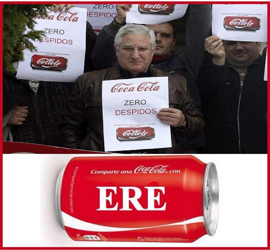 La crisis de reputación de Coca-Cola en España. El ERE en Coca-Cola desata la infelicidad.