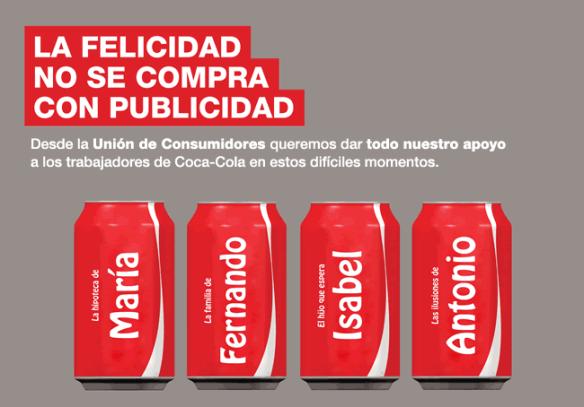 La comunicación del ERE en Coca-Cola desata la infelicidad