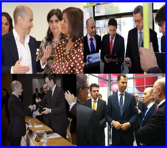 La comunicación de Gowex durante el inicio de la crisis por el informe de Gotham City Research. Jenaro García CEO de Gowex con diversos políticos y cargos públicos de España.