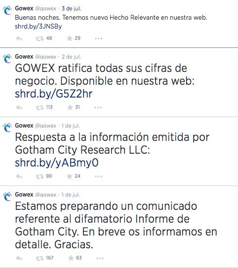 Gowex y su gestión de crisis en comunicación: el uso de Twitter
