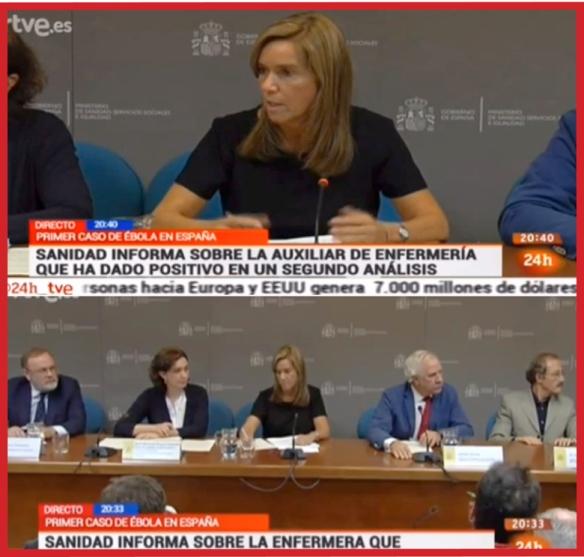 La rueda de prensa ofrecida por la Ministra de Sanidad Ana Mato es el perfecto ejemplo de cómo no actuar en comunicación en una gestión de crisis, en este caso por un brote epidémico que no tiene cura y es el primer caso en Europa de ébola.
