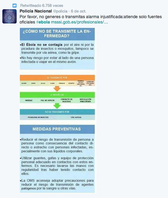 En la gestión de comunicación de la crisis del ébola en España se está desaprovechando el uso de las redes sociales como por ejemplo tuiter.