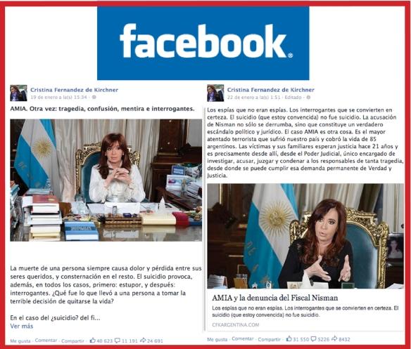 Comunicación de Crisis.La reacción de Cristina Fernández de Kirchner, presidenta de Argentina, ante la muerte del fiscal Alberto Nisman sirve para poner énfasis desdela comunicación en dos aspectos claves en la gestión de crisis: la rapidez en la respuesta y la utilización de redes sociales.