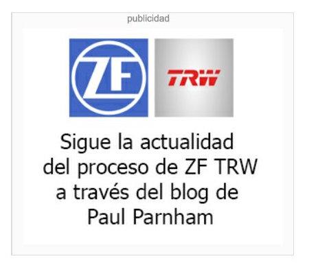 En el caso de gestión de la comunicación de crisis del ERE por despido colectivo de la empresas ZF TRW en Pamplona  su director gerente Paul Parnham  abre un blog personal y lo publicita con un anuncio banner en un medio online. En el blog hace reflexiones sobre el ERE de despido colectivo que afecta a 250 personas.